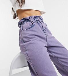 Фиолетовые джинсы в винтажном стиле с завышенной присборенной талией Reclaimed Vintage inspired The 96-Фиолетовый