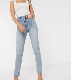 Голубые джинсы в винтажном стиле с завышенной талией Vero Moda Tall-Синий