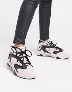 Розово-черные кроссовки Nike Air Jordan OG-Розовый
