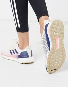 Светло-бежевые кроссовки adidas Running solar boost-Светло-бежевый