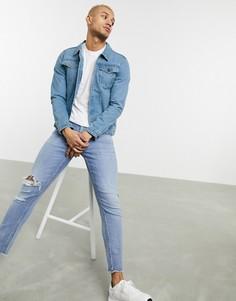 Синяя джинсовая куртка Soul Star-Синий