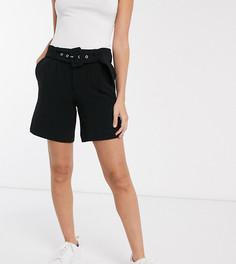 Черные шорты с поясом Vero Moda Petite-Черный