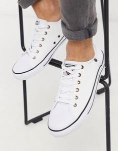 Белые кеды на шнуровке Dunlop-Белый