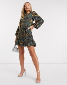 Свободное платье с принтом и заниженной талией AX Paris-Мульти