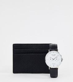 Часы и визитница Reclaimed Vintage Inspired эксклюзивно для ASOS-Черный