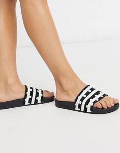 Черные шлепанцы в горошек adidas Originals adilette-Черный