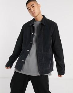 Черная вельветовая куртка ASOS DESIGN-Черный