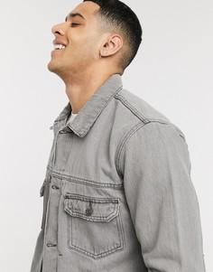 Серая джинсовая куртка Topman-Серый