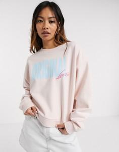 Розовый свитшот Levis