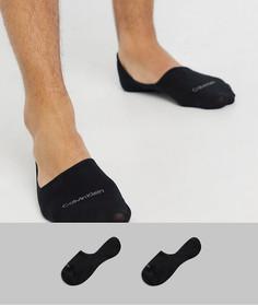 Набор из 2 пар черных невидимых носков Calvin Klein-Черный