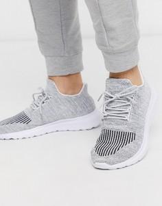 Серые трикотажные кроссовки New Look-Серый