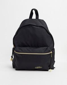 Рюкзак с золотистой отделкой Eastpak padded pakr-Черный