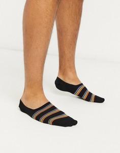 Невидимые носки в полоску Paul Smith-Черный