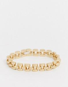 Золотистый браслет-цепочка Vibe and Carter эксклюзивно для ASOS-Золотой