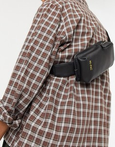 Черная фактурная сумка через плечо Mi-Pac-Черный