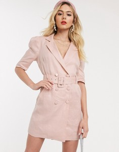 Розовое платье-смокинг Collective The Label-Розовый