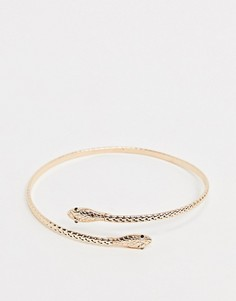 Золотистый браслет-манжет на предплечье в виде змеи ALDO-Золотой