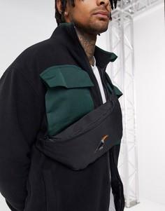 Черная сумка-кошелек на пояс с вышивкой ASOS DESIGN-Черный