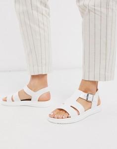 Белые резиновые сандалии-гладиаторы London Rebel-Белый
