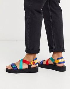 Сандалии с ремешками Tommy Jeans-Черный