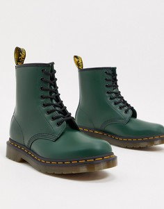 Зеленые кожаные ботинки Dr Martens 1460-Зеленый