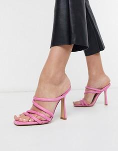 Розовые босоножки на каблуке с ремешками ALDO-Розовый