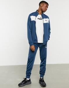 Темно-синий спортивный костюм Puma techstripe