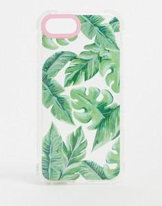 Чехол для iPhone с пальмовым рисунком Skinnydip bali-Зеленый