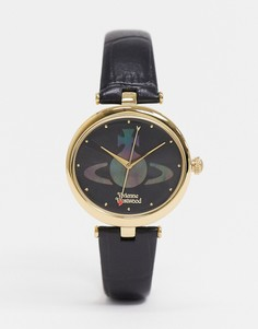 Наручные часы с черным ремешком Vivienne Westwood-Черный