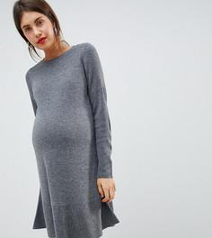 Платье с оборкой ASOS DESIGN Maternity-Серый