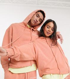 Худи в стиле oversized оранжевого цвета COLLUSION Unisex-Оранжевый