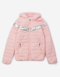 Розовая утеплённая куртка для девочки Gloria Jeans