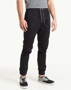 Чёрные брюки-джоггеры Gloria Jeans