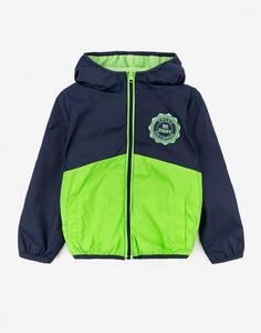Зелёно-синяя куртка для мальчика Gloria Jeans