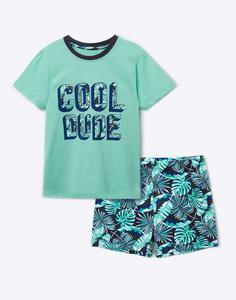 Пижама с принтом для мальчика Gloria Jeans