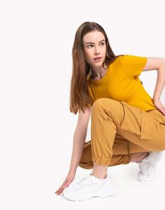 Оранжевая однотонная футболка Gloria Jeans