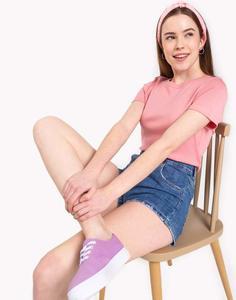 Розовая однотонная футболка Gloria Jeans
