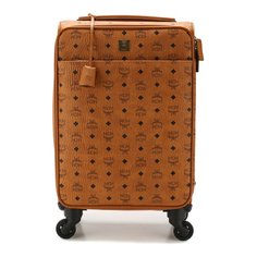 Чемоданы MCM Кожаный дорожный чемодан на колесиках MCM