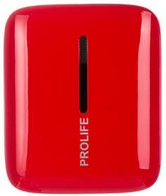 Портативное зарядное устройство Prolife PWB01-10000 10000мАч (красный)