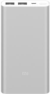 Портативное зарядное устройство Xiaomi Mi Power Bank 2S 10000 мАч (серебристый)