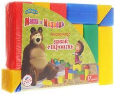 Конструктор Затейники Маша и Медведь GT6034 Давай строить