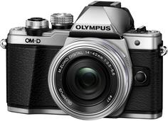 Фотоаппарат со сменной оптикой Olympus OM-D E-M10 Mark II Kit 14-42mm EZ (серебристый)