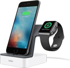 Док-станция Belkin PowerHouse для Apple Watch + iPhone (белый)