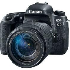 Зеркальный фотоаппарат Canon EOS 77D 18-135 mm IS USM (черный)