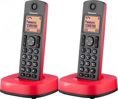 Радиотелефон Panasonic KX-TGC312 (черно-красный)