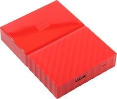 "Внешний HDD WD My Passport 1TB 2.5"" (красный)"