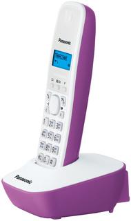 Радиотелефон Panasonic KX-TG1611 (бело-фиолетовый)