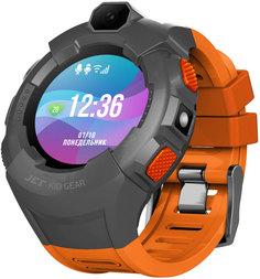 Детские умные часы JET KID GEAR (серо-оранжевый)