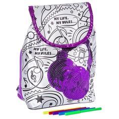 Набор для творчества BONDIBON Рюкзак для раскрашивания с пайетками (разноцветный)