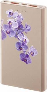 Портативное зарядное устройство InterStep PB10000MC 10000 мАч Орхидея (розовый)